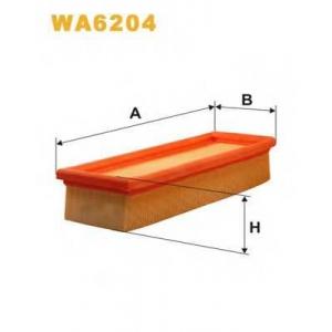WIX WA6204 Фильтр воздушный FIAT WA6204/AP042 (пр-во WIX-Filtron UA)