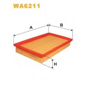 WIX WA6211 Фильтр воздушный OPEL WA6211/AP048 (пр-во WIX-Filtron UA)