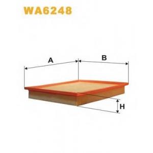 WIX WA6248 Фильтр воздушный BMW 524TD WA6248/AP081 (пр-во WIX-Filtron UA)