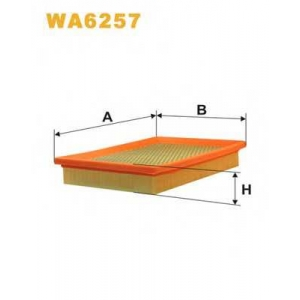 WIX FILTERS WA6257 Фильтр воздушный ALFA ROMEO 155 WA6257/AP086 (пр-во WIX-Filtron)