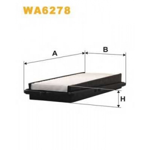 WIX FILTERS WA6278 Фильтр воздушный HONDA ACCORD WA6278/AP102 (пр-во WIX-Filtron)