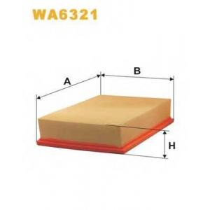 WIX WA6321 Фильтр воздушный SKODA, VW WA6321/AP140 (пр-во WIX-Filtron UA)