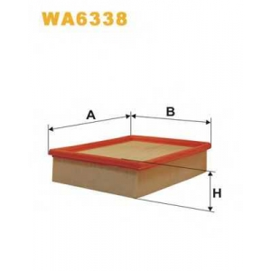 WIX WA6338 Фильтр воздушный OPEL VECTRA AP153/WA6338 (пр-во WIX-Filtron UA)
