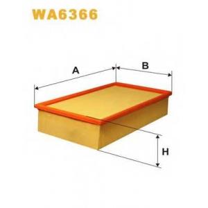 WIX WA6366 Фильтр воздушный AUDI A6 WA6366/AP179 (пр-во WIX-Filtron UA)