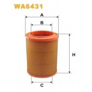 WIX FILTERS WA6431 Фильтр воздушный DACIA 1.3 WA6431/AR252 (пр-во WIX-Filtron)