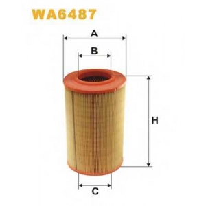 WIX WA6487 Фильтр воздушный FIAT DUCATO (TRUCK) WA6487/AR316 (пр-во WIX-Filtron UA)