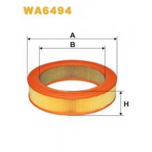 WIX FILTERS WA6494 Фильтр воздушный MITSUBISHI COLT AR329/WA6494 (пр-во WIX-Filtron)