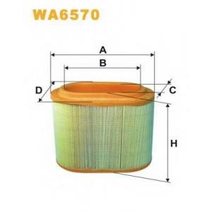 Воздушный фильтр wa6570 wix - HYUNDAI H-1 / STAREX вэн 2.5 TD