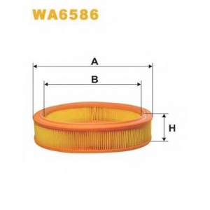 Воздушный фильтр wa6586 wix - FIAT PUNTO (188) Наклонная задняя часть 1.2 60 (188.030, .050, .130, .150, .230, .250)