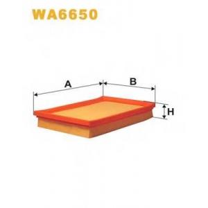 WIXFILTERS WA6650 Фiльтр повiтря 167/1