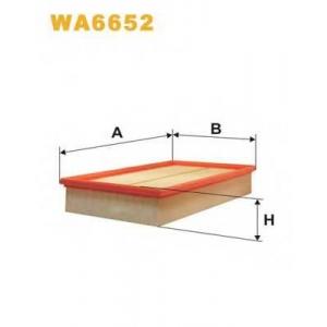 WIX FILTERS WA6652 Фильтр воздушный MB WA6652/AP118/7 (пр-во WIX-Filtron)