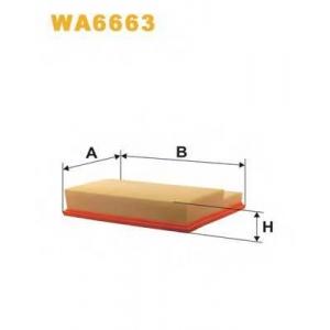 WIX WA6663 Фильтр воздушный MB C, CLK, ML WA6663/AP118/6 (пр-во WIX-Filtron UA)