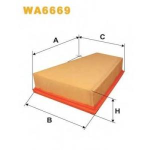 WIX FILTERS WA6669 Фильтр воздушный PEUGEOT AP080/8/WA6669 (пр-во WIX-Filtron)