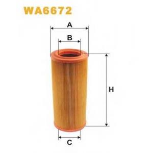 WIX FILTERS WA6672 Фильтр воздушный FIAT WA6672/AR234/2 (пр-во WIX-Filtron)