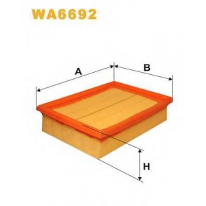 wa6692 wix Воздушный фильтр VW POLO CLASSIC седан 60 1.4