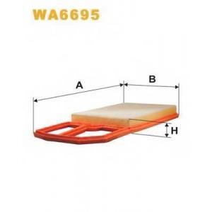 WIX FILTERS WA6695 Фильтр воздушный VW GOLF WA6695/AP183/2 (пр-во WIX-Filtron)