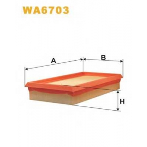 Воздушный фильтр wa6703 wix - RENAULT MEGANE I (BA0/1_) Наклонная задняя часть 1.9 D Eco (B/SA0U, BA0A)