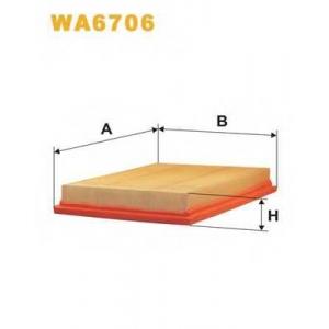 Воздушный фильтр wa6706 wix - MINI MINI (R50, R53) Наклонная задняя часть One