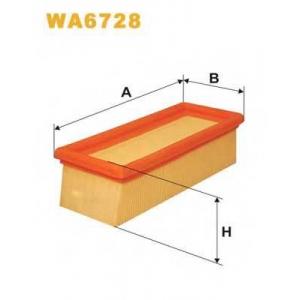 WIX FILTERS WA6728 Фильтр воздушный RENAULT CLIO WA6728/AP133/2 (пр-во WIX-Filtron)
