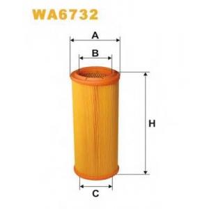 WIX WA6732 Фильтр воздушный FIAT WA6732/AR234/3 (пр-во WIX-Filtron UA)
