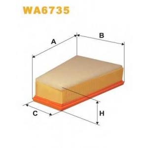 WIX FILTERS WA6735 Фильтр воздушный CITROEN BERLINGO WA6735/AP080/9 (пр-во WIX-Filtron)