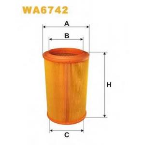 WIX FILTERS WA6742 Фильтр воздушный WA6742/318/1 (пр-во WIX-Filtron)