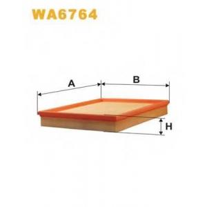 WIX FILTERS WA6764 Фильтр воздушный OPEL ASTRA WA6764/AP051/2 (пр-во WIX-Filtron)