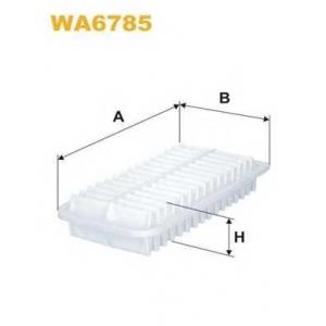 WIX FILTERS WA6785 Фильтр воздушный TOYOTA COROLLA WA6785/AP142/3 (пр-во WIX-Filtron)