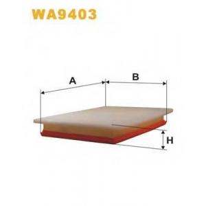 WIX FILTERS WA9403 Фильтр воздушный OPEL ASTRA H WA9403/AP051/6 (пр-во WIX-Filtron)