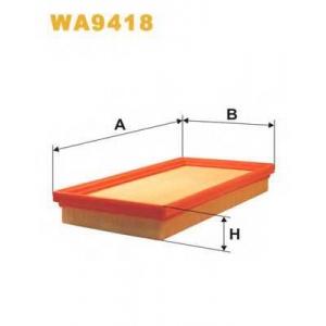 WIX FILTERS WA9418 Фильтр воздушный WA9418/AP182/4 (пр-во WIX-Filtron)