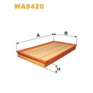 WIX FILTERS WA9420 Фильтр воздушный MB VITO WA9420/AP158/1 (пр-во WIX-Filtron)