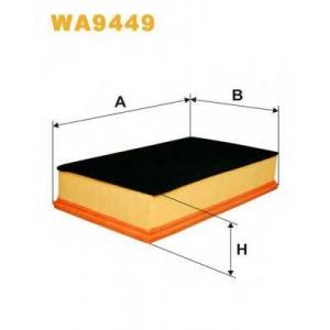 WIX FILTERS WA9449 Фильтр воздушный WA9449/AP157/5 (пр-во WIX-Filtron)
