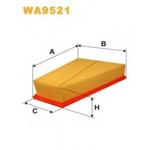 WIX FILTERS WA9521 Фильтр воздушный FORD GALAXY WA9521/AP186/1 (пр-во WIX-Filtron)