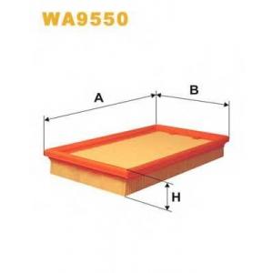 WIX FILTERS WA9550 Фильтр воздушный WA9550/190/3 (пр-во WIX-Filtron)