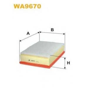 WIX FILTERS WA9670 Фильтр воздушный OPEL MOVANO, RENAULT MASTER (пр-во WIX-Filtron)