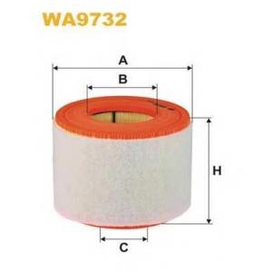WIX FILTERS WA9732 Фильтр воздушный AUDI A6 2.0 TFSI, TDI (пр-во WIX-Filtron)