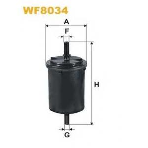 WIX FILTERS WF8034 Фильтр топл. LOGAN WF8034/PP831/1 (пр-во WIX-Filtron)
