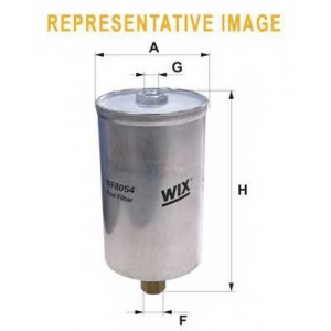 WIX FILTERS WF8038 Фильтр топл. MB W124 WF8038/PP834 (пр-во WIX-Filtron)