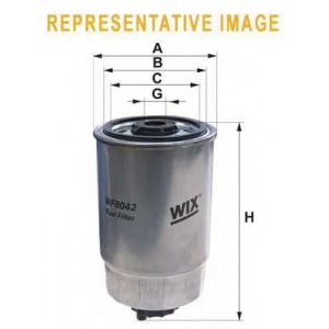 WIX FILTERS WF8042 Фильтр топл. IVECO WF8042/PP837 (1-й сорт)(пр-во WIX-Filtron)