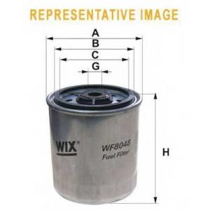 Топливный фильтр wf8048 wix - MERCEDES-BENZ 190 (W201) седан D 2.0 (201.122)