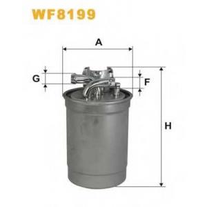 WIX FILTERS WF8199 Фильтр топл. VW PASSAT WF8199/PP839/4 (пр-во WIX-Filtron)
