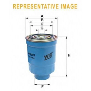WIX FILTERS WF8409 Фильтр топл. WF8409/852/2 (пр-во WIX-Filtron)