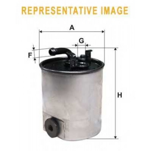WIX WF8480 Фильтр топливный  (PP 857/4)