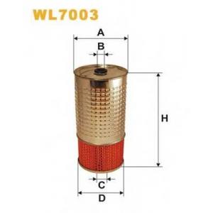 Масляный фильтр wl7003 wix - MERCEDES-BENZ G-CLASS (W460) вездеход закрытый 300 GD (460,3)