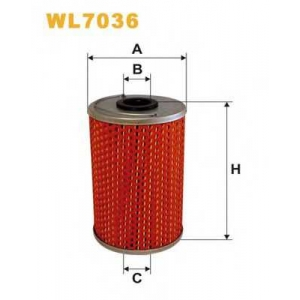 WIX WL7036 Фильтр масляный MB (TRUCK) WL7036/OM516 (пр-во WIX-Filtron UA)