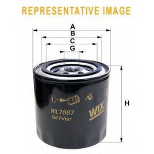 WIX FILTERS WL7174 Фильтр масляный TOYOTA COROLLA WL7174/OP619 (пр-во WIX-Filtron)