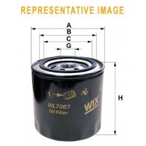 WIX FILTERS WL7193 Фильтр масляный KIA WL7193/OP632/1 (пр-во WIX-Filtron)