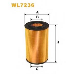 WIX FILTERS WL7236 Фильтр масляный WL7236/OE649/2 (пр-во WIX-Filtron)