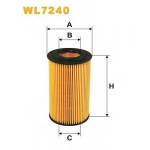 WIX FILTERS WL7240 Фильтр масляный MERCEDES WL7240/OE640/5 (пр-во WIX-Filtron)