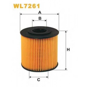 WIX FILTERS WL7261 Фильтр масляный VOLVO WL7261/OE662 (пр-во WIX-Filtron)